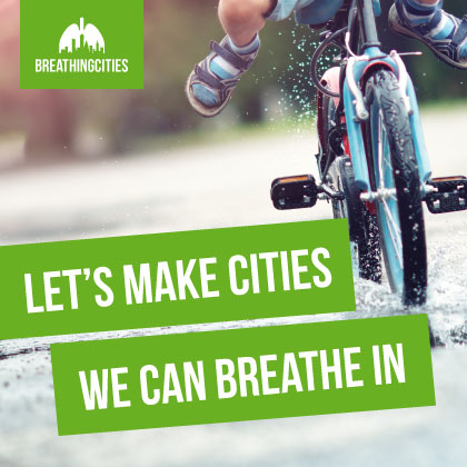 Let's make cities we can breathe in